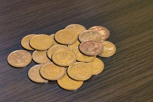 たくさんの銅貨
