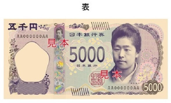 新しい日本銀行券5000円札