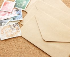 郵送するための手紙