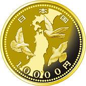 一万円金貨(東日本大震災復興事業記念)