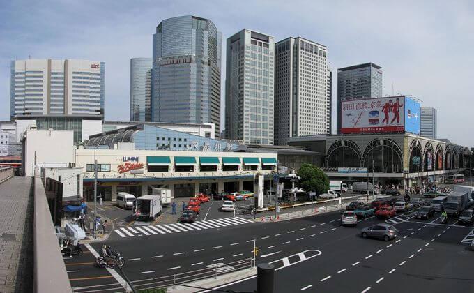 東京品川駅の周辺