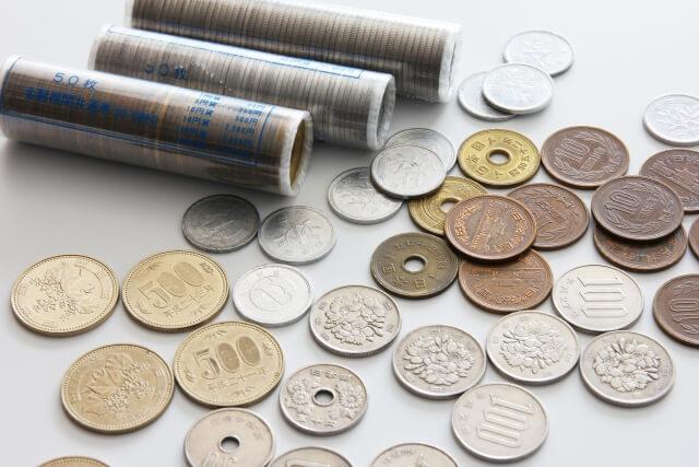 色々な種類の小銭