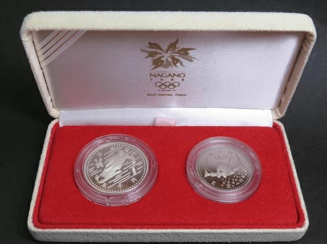 長野オリンピック記念硬貨2点プルーフセット