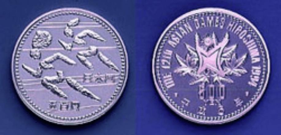 第12回アジア競技大会記念500円硬貨(走る)