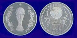 FIFAワールドカップ記念硬貨(1,000円銀貨)