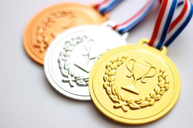 金・銀・銅のメダル