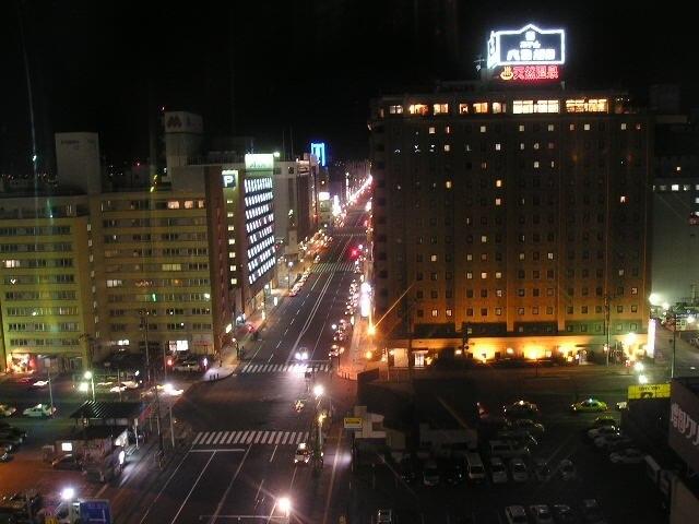 旭川市の夜の街並み